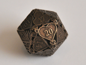 D20 Balanced - Cards in Polished Bronze Steel