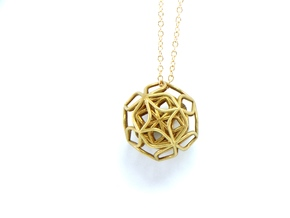 Trifolium pendant in Natural Brass