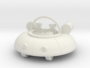 UFO (Free Download) in White Natural Versatile Plastic