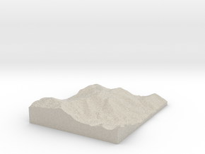 Model of Mountain Air Airport in Natural Sandstone