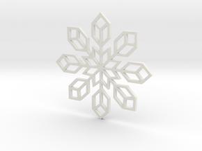 Snowflake 2 in White Natural Versatile Plastic