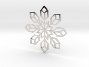 Snowflake 2 in Rhodium Plated Brass