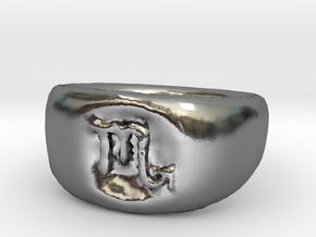 Scorpio Ring sz8 in Polished Silver