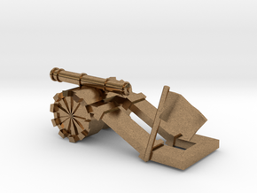 Tank paperweight in Natural Brass: Small