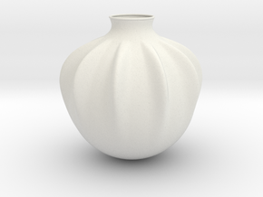 Vase J936 in White Natural Versatile Plastic