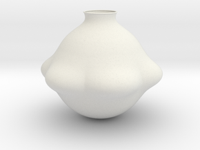 Vase J1307 in White Natural Versatile Plastic