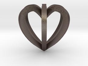 Herzchen in Polished Bronzed Silver Steel