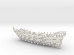 1/450 Ship of the Line Frames + Optional Dry Dock in White Natural Versatile Plastic: Medium