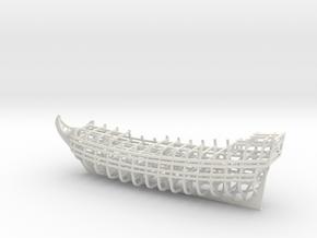 1/450 Ship of the Line Frames + Optional Dry Dock in White Natural Versatile Plastic: Medium