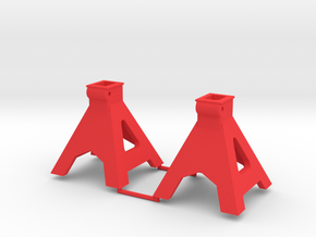 1/10 Scale Jack Stands Part A in Red Strong & Flexible Polished