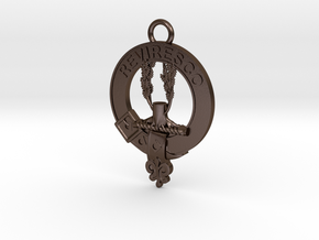 McEwen Clan Crest key fob in Polished Bronze Steel