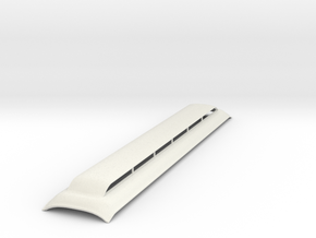 Broken Bullnose roof Sn3 scale version 2 in White Natural Versatile Plastic