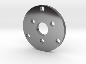 R type Small Chassis disk in Fine Detail Polished Silver