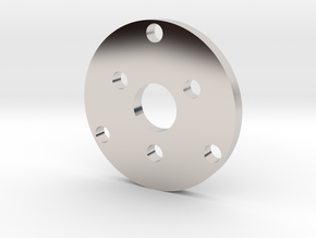 R type Small Chassis disk in Rhodium Plated Brass
