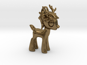 """My Little OC: Smol Reindeer 2""""  in Natural Bronze"""