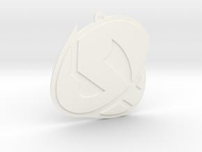 Team Skull Ornament in White Processed Versatile Plastic