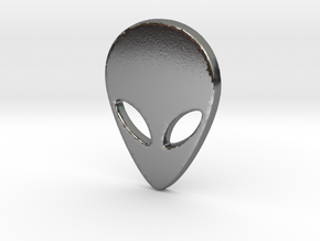 Cute Alien in Polished Silver