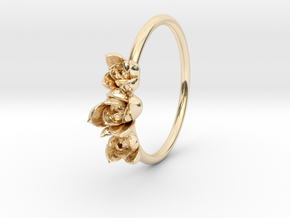 Succulent Trio Ring in 14K Yellow Gold: 5 / 49