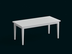 1:10 Scale Model - Table 08 in White Natural Versatile Plastic