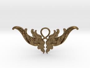 Baroque Motif 1 Pendant in Natural Bronze