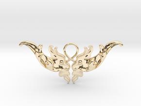 Baroque Motif 1 Pendant in 14K Yellow Gold