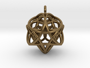 Flower of Life Fire Pendant in Natural Bronze