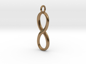Earring infinity symbol in Natural Brass