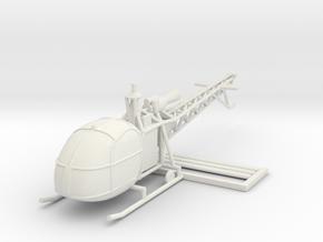 1/100 Alouette II (15mm) in White Natural Versatile Plastic
