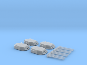 1/426 New Mexico class Battleship Turrets in Smoothest Fine Detail Plastic