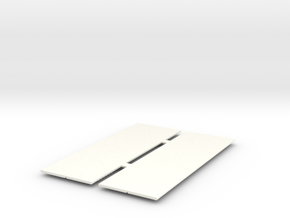 1/24 - 2x 2 Locker Fronts in White Processed Versatile Plastic