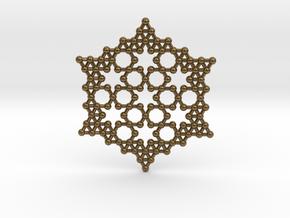 Merkaba Koch Fractal Snowflake in Polished Bronze