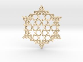 Merkaba Koch Fractal Snowflake in 14K Yellow Gold
