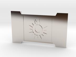 The Black Sun in Rhodium Plated Brass