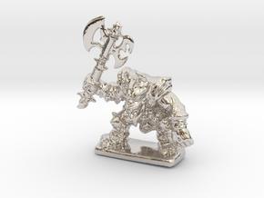 HeroQuest FrozenHorror 28mm heroic scale miniature in Rhodium Plated Brass