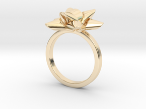 Gift Bow Ring in 14k Gold Plated Brass: 6 / 51.5