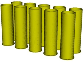 1/16 scale Howitzer 105mm cartridge M14 cases x 10 in Smooth Fine Detail Plastic