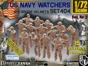 1/72 USN Watchers Set404 in Smooth Fine Detail Plastic