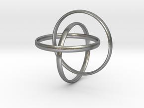 Interlocking rings in Interlocking Raw Silver