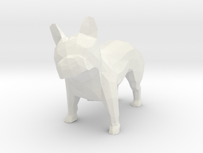 French Bulldog DC&RS NYE 17 in White Natural Versatile Plastic