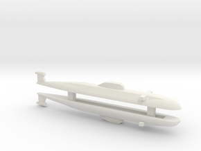 Victor Class SSN x 2, 1/1800 in White Natural Versatile Plastic