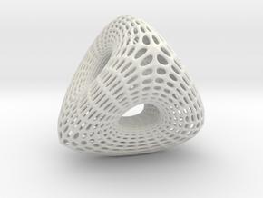 Voronoi Tri Ballrace in White Strong & Flexible: Small