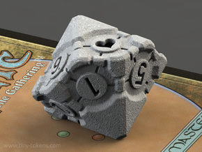 Spindown Companion Cube D10 - Portal Dice in Polished Metallic Plastic: Small