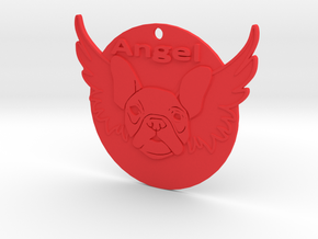 Bulldog angel in Red Strong & Flexible Polished