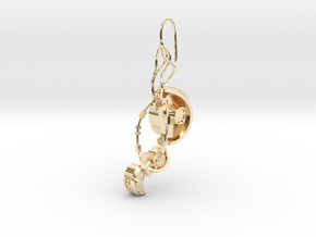 GLaDOS Earring in 14K Yellow Gold