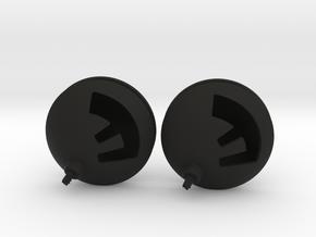 F Bomb earrings in Black Natural Versatile Plastic