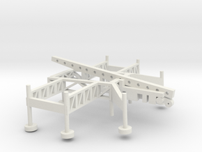 1/72 Scale Nike Missile Launch Pad in White Natural Versatile Plastic