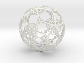 Snow Ornament in White Natural Versatile Plastic