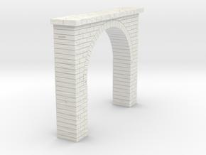 Tunnel Portal Single Stone N Scale in White Natural Versatile Plastic