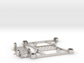 Ultralight Micro 105mm FPV Quadrotor Frame (8.5mm  in Rhodium Plated Brass