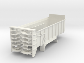 1/64 Scale Vertical Beater Manure Spreader Box in White Natural Versatile Plastic